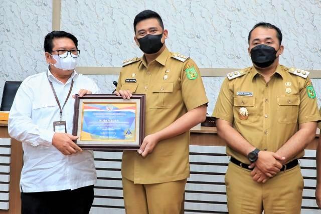 Pemko Medan Terima Piagam Penghargaan WTP Dari Kementerian Keuangan